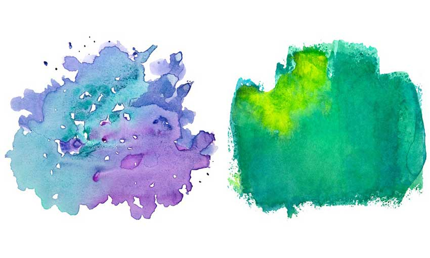 Example of 6 Watercolor Textures Vol.2