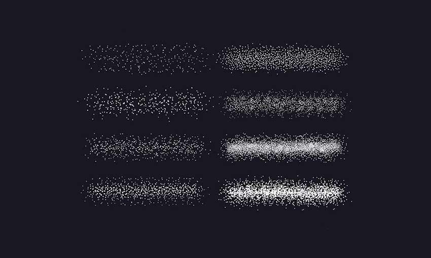 Example of Stipple Shading Brushes for Adobe Photoshop