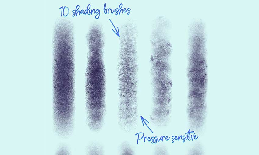 Example of 10 Free Grain Shader Brushes for Adobe Photoshop