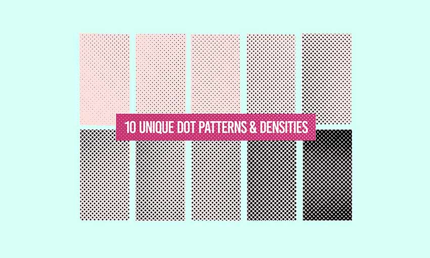Example of 10 Free Halftone Texture Brushes for Adobe Photoshop