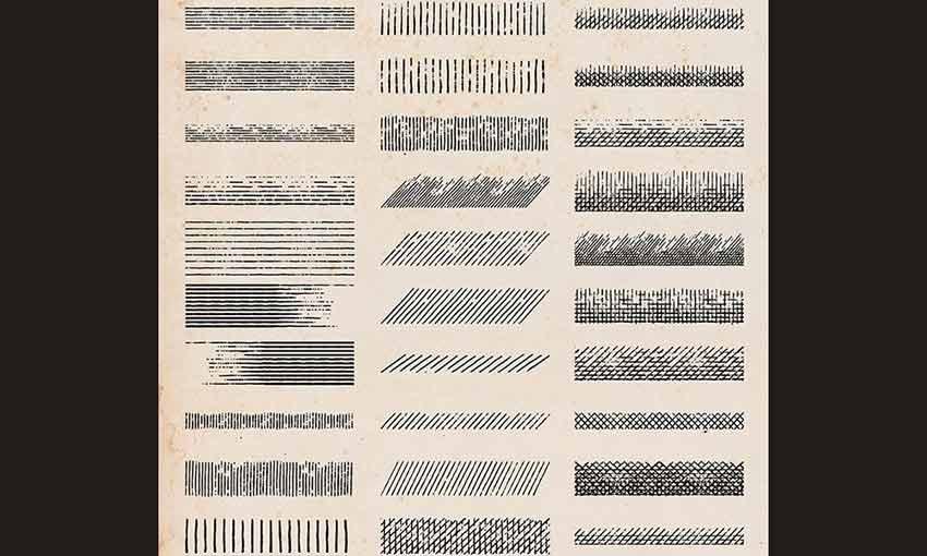 Example of 30 Free Vintage Shading Brushes for Adobe Illustrator