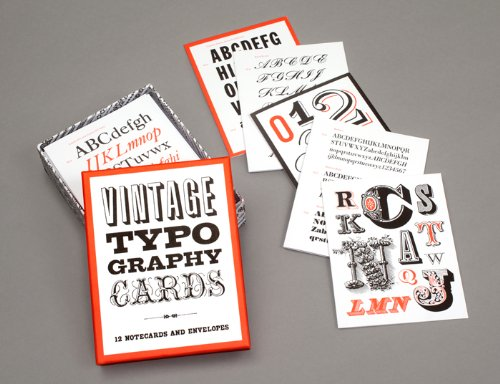 Vintage Typography Cards - Gifts For Designers - 1st Web Designer