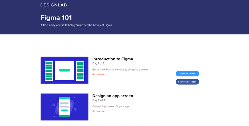 Example from DesignLab: Figma 101 - A Free 7-day Course for Mastering Figma