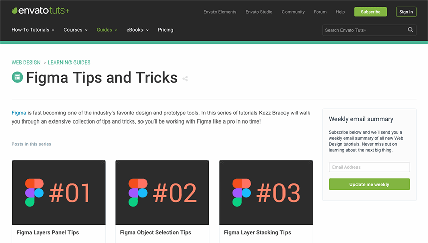 Example from Envato Tuts+ Figma Tips and Tricks