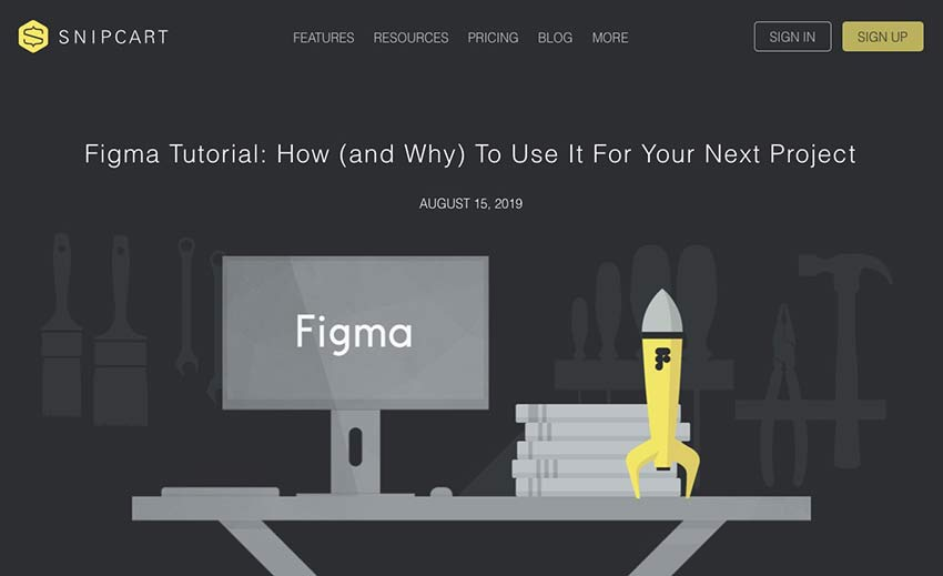 Example from Figma Tutorial: How (and Why) to Use it for Your Next Project