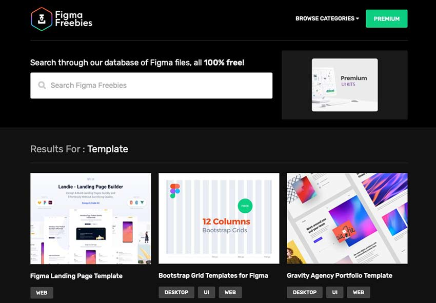 Example from Figma Freebies