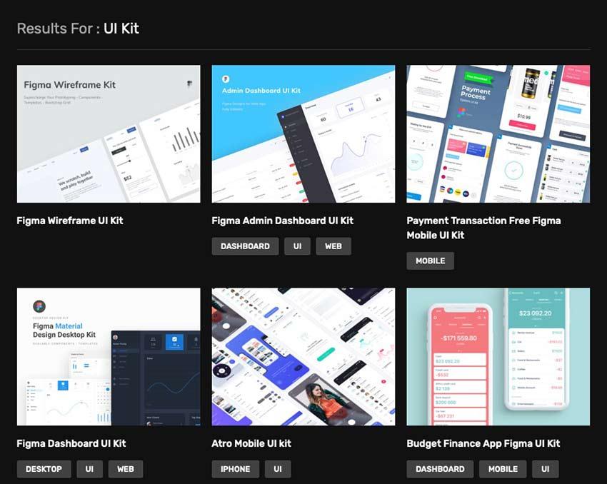 Example from Figma Freebies UI Kits