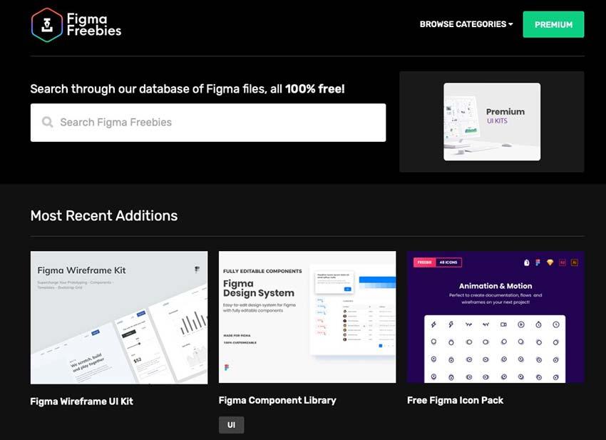 Example from Figma Freebies - Free UI Kits & Figma Templates