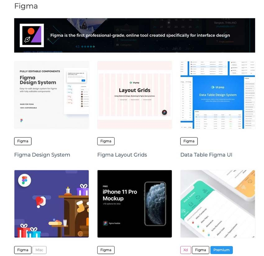 Example from Figma Freebies - Systems, Grids, UI Kits & Templates