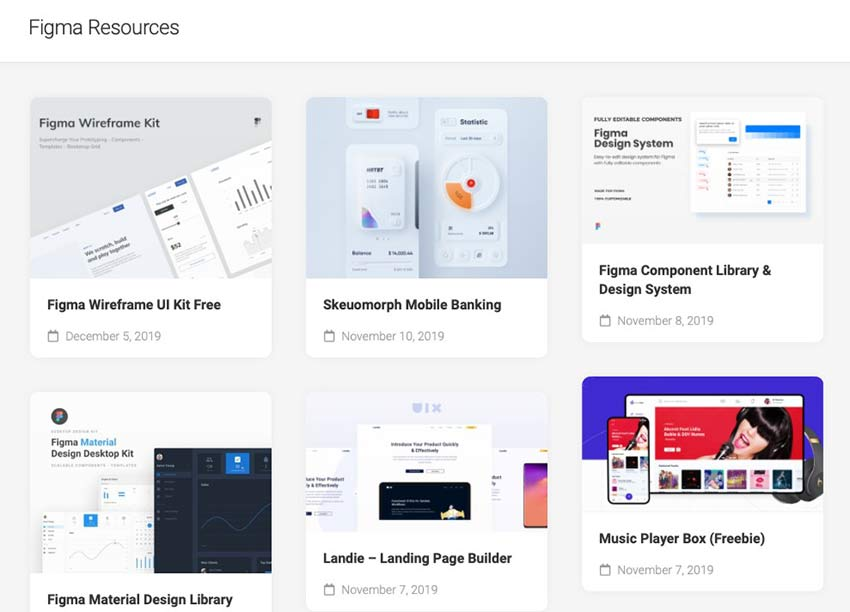 Example from Figma Resources