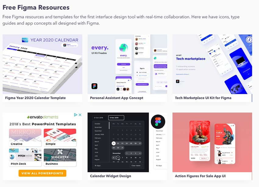 Example from Free Figma Resources & Templates