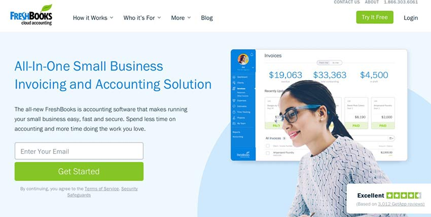 Example from FreshBooks