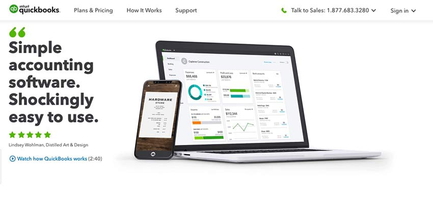 Example from Intuit QuickBooks
