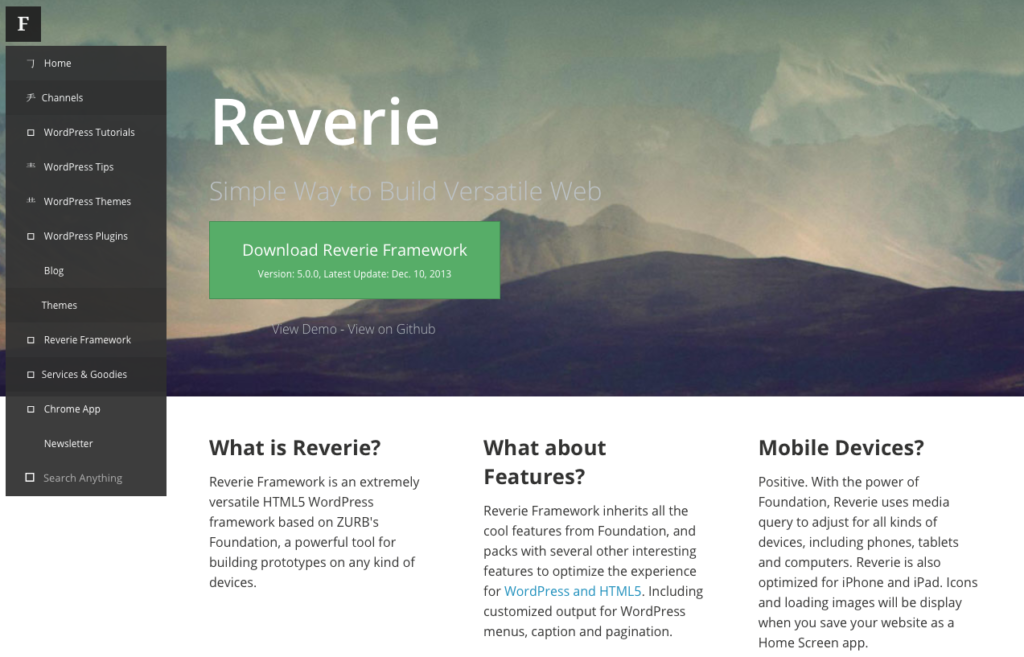 Foundation or Bootstrap - Reverie