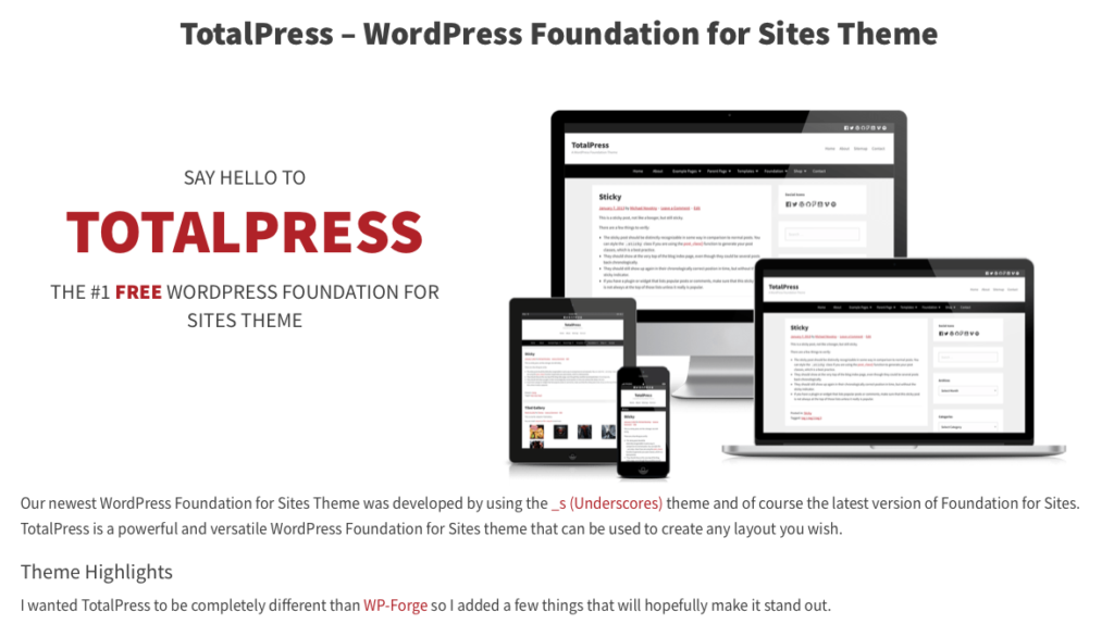 Foundation or Bootstrap - TotalPress