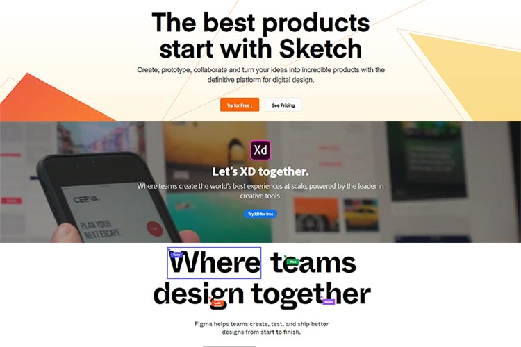 Adobe XD vs. Sketch vs. Figma – Comparing Top UI Design Tools of 2019