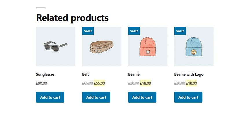 A listing of WooCommerce Related Products.