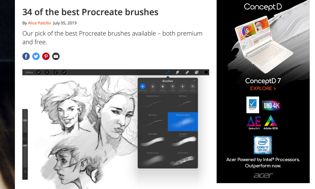 Procreate Brushes - 34 best