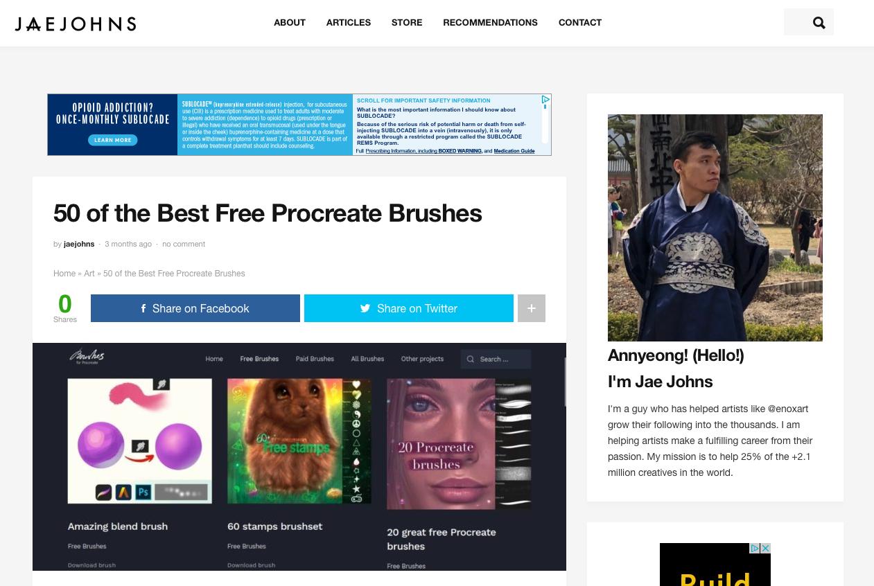Procreate Brushes - 50 best free