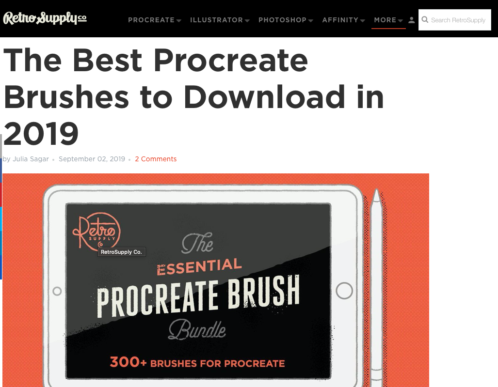 Procreate Brushes - essential bundle