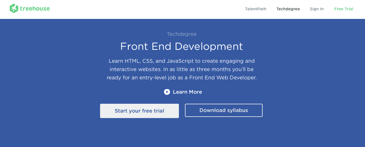Treehouse: Front End Web Development