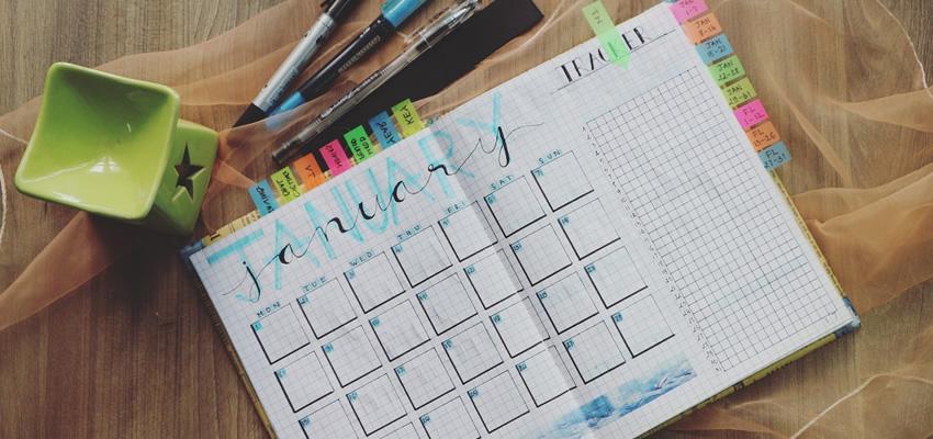 Resolutions for Web Designers - A calendar