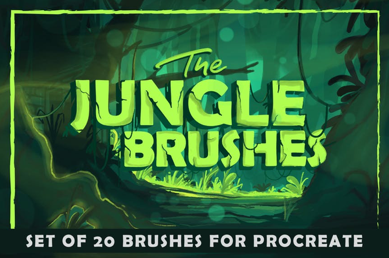 Procreate Brushes - Jungle