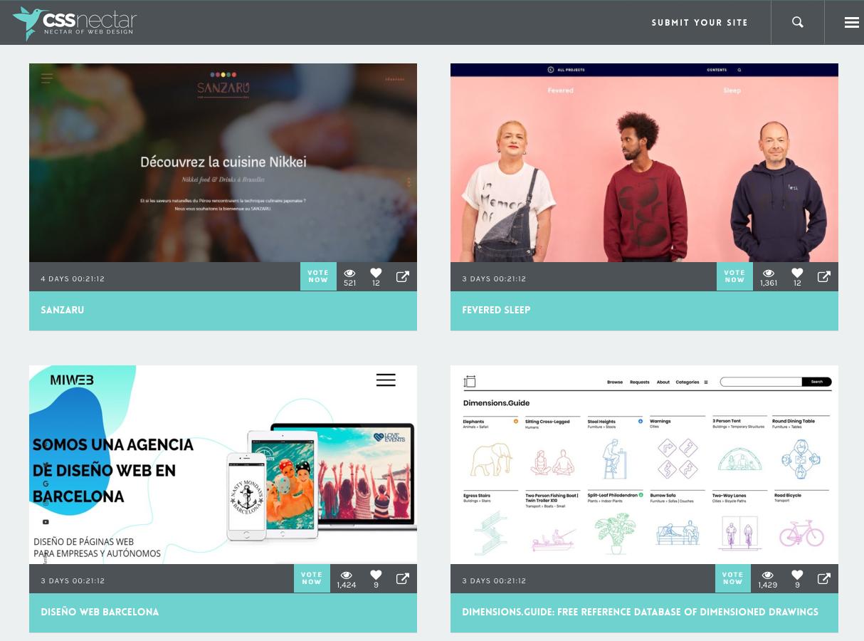 CSS Nectar - web design