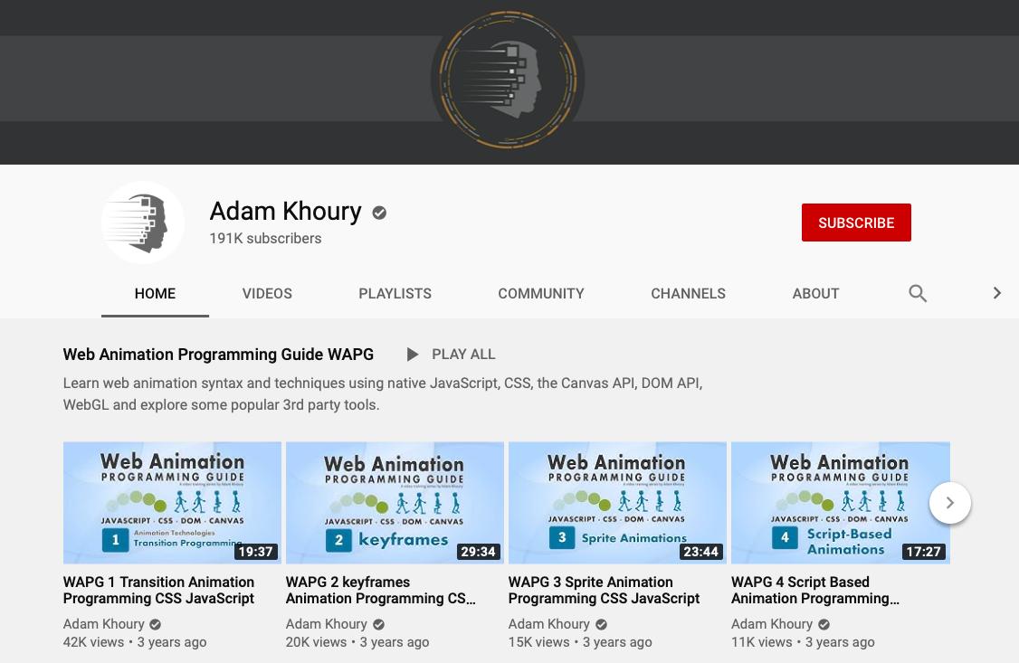 Adam Khoury - Web Development YouTube