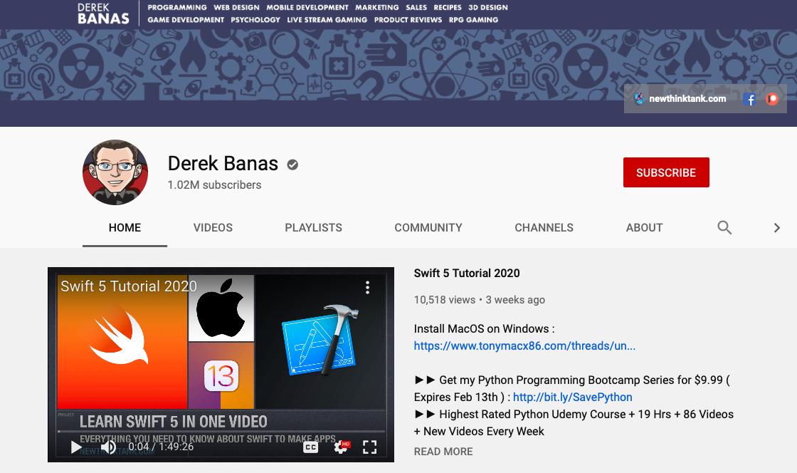 Derek Banas - Web Development YouTube