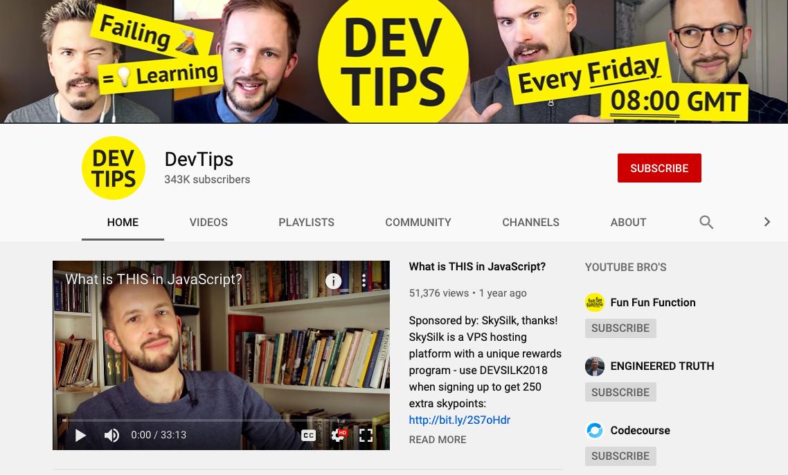 DevTips - Web Development YouTube