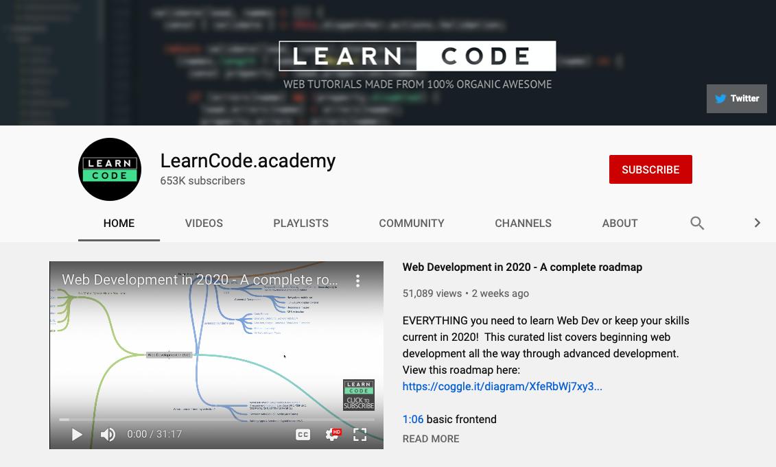 Learncode Academy - Web Development YouTube