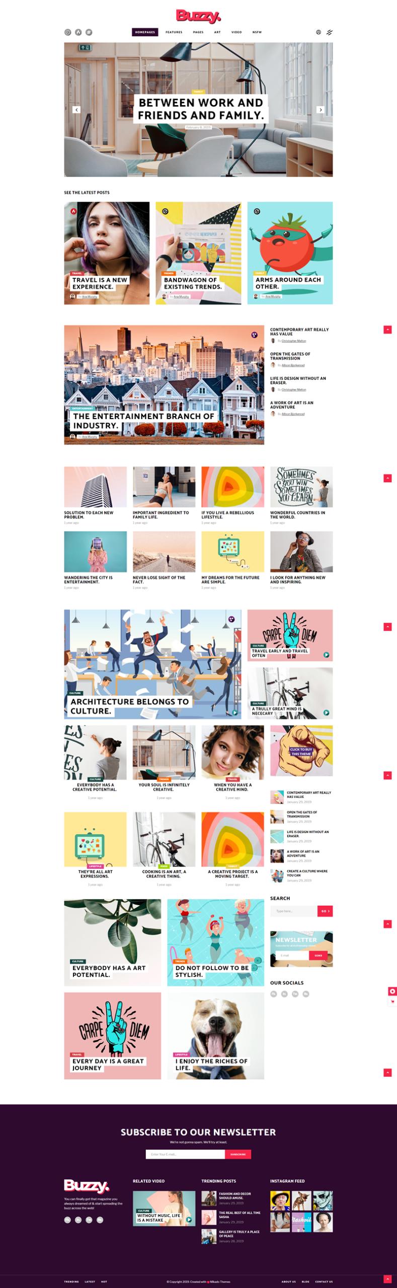 Buzzy - best WordPress themes for magazine or news websites