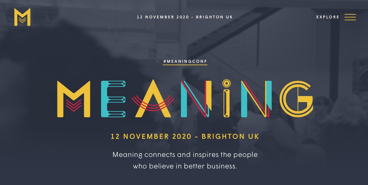 dark website designs - Meaning 2020