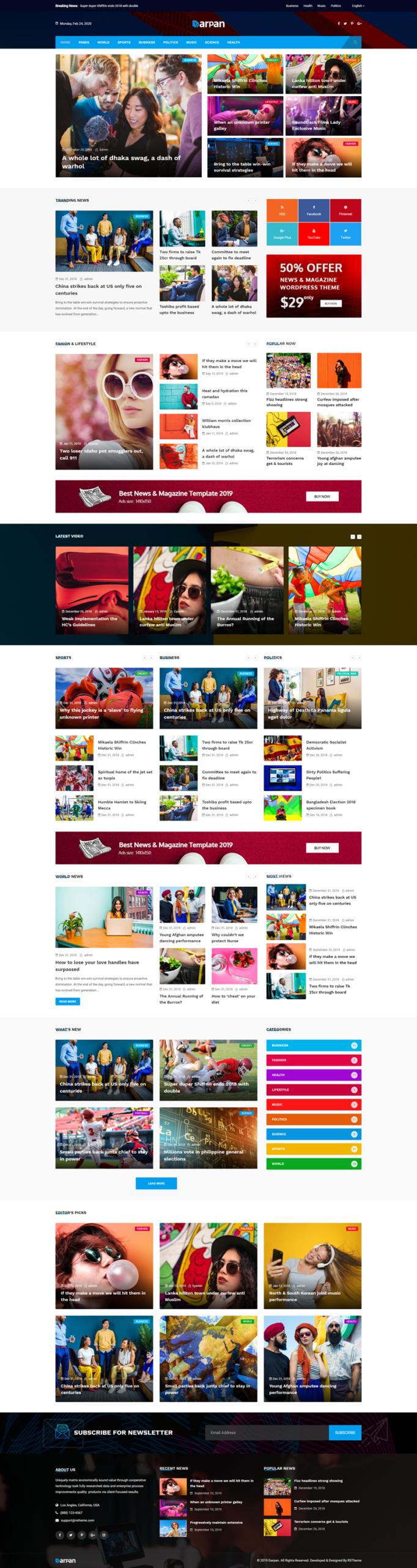 Darpan - WordPress theme
