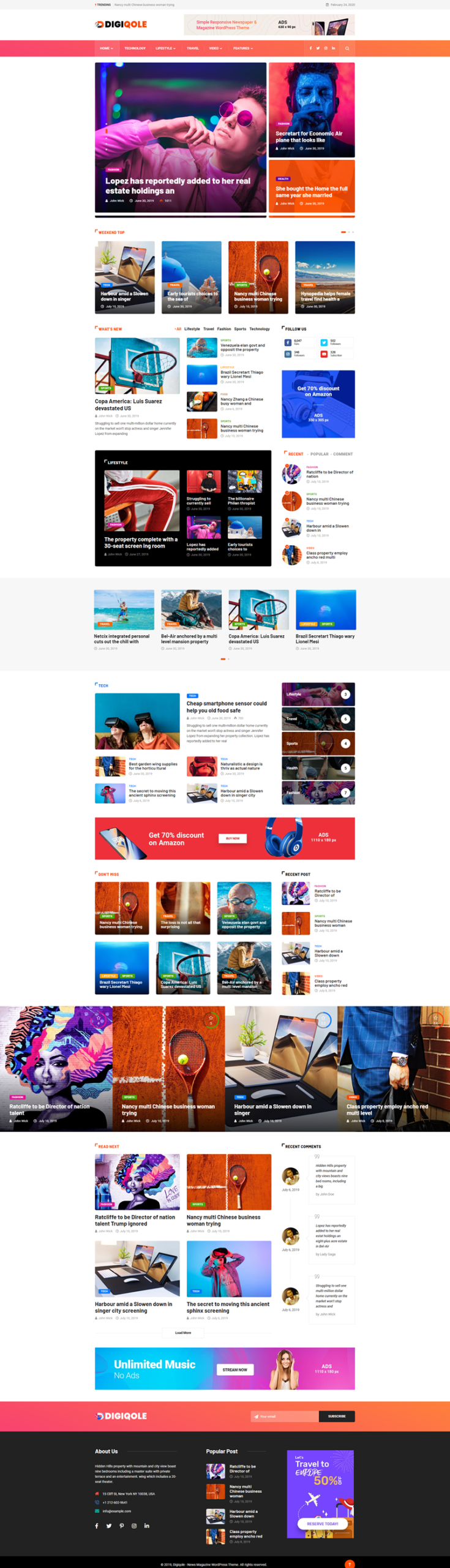 Digiqole - best WordPress themes
