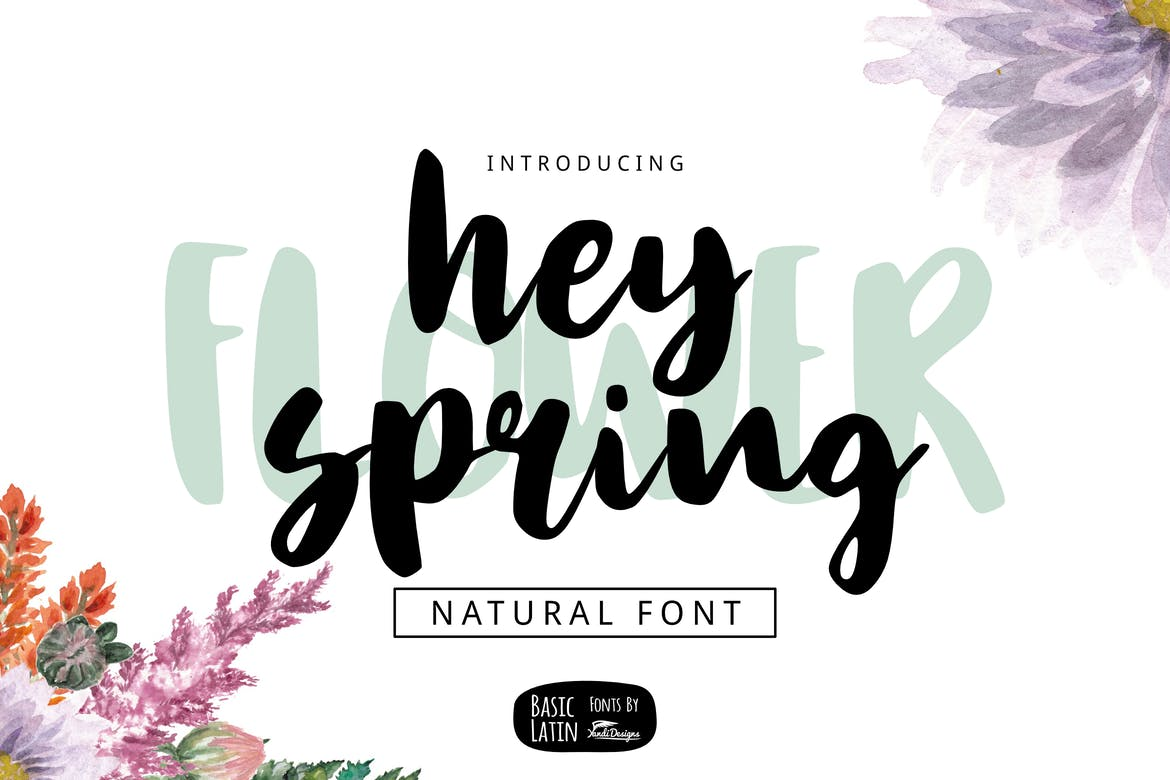 Hey Spring - fonts for web