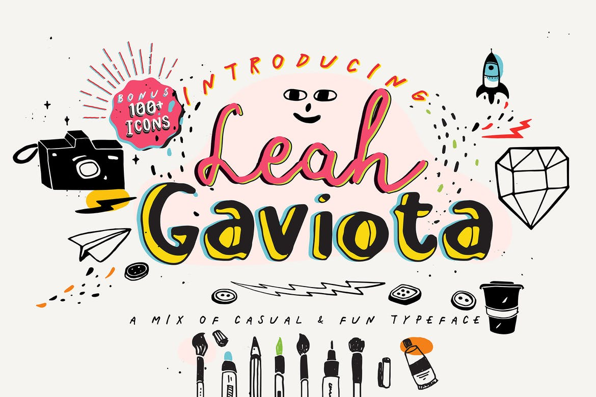 Leah Gaviota - fonts for web
