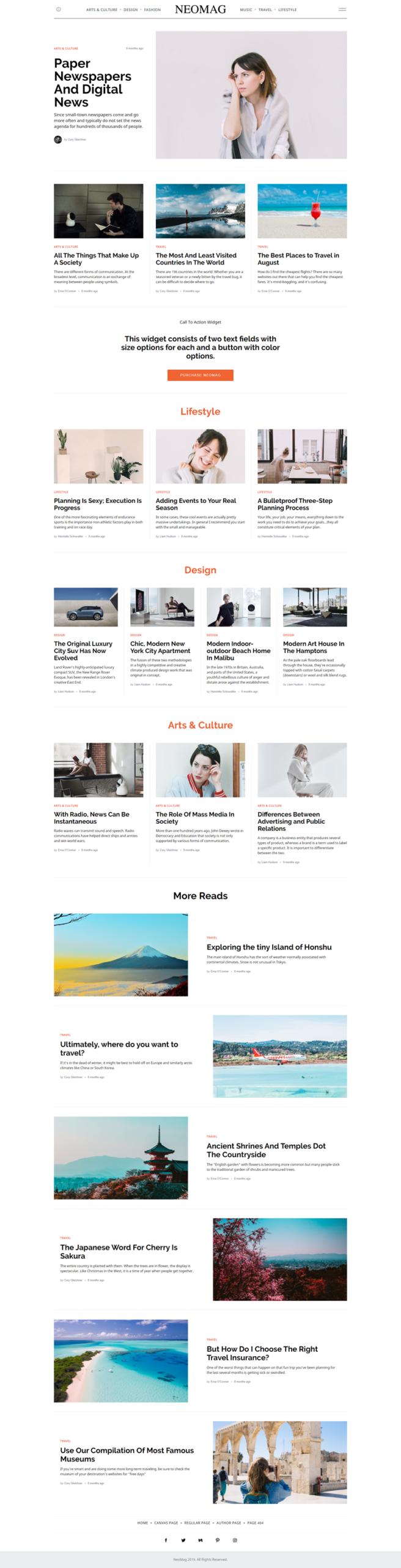 NeoMag - best WordPress themes
