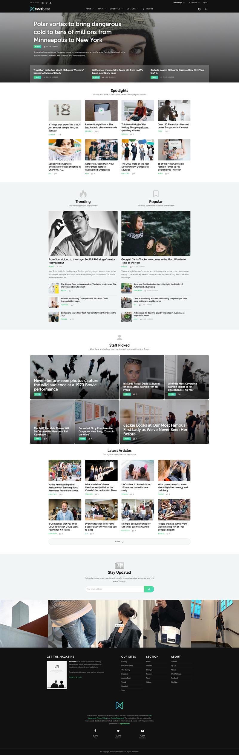 Newsbeat - WordPress theme
