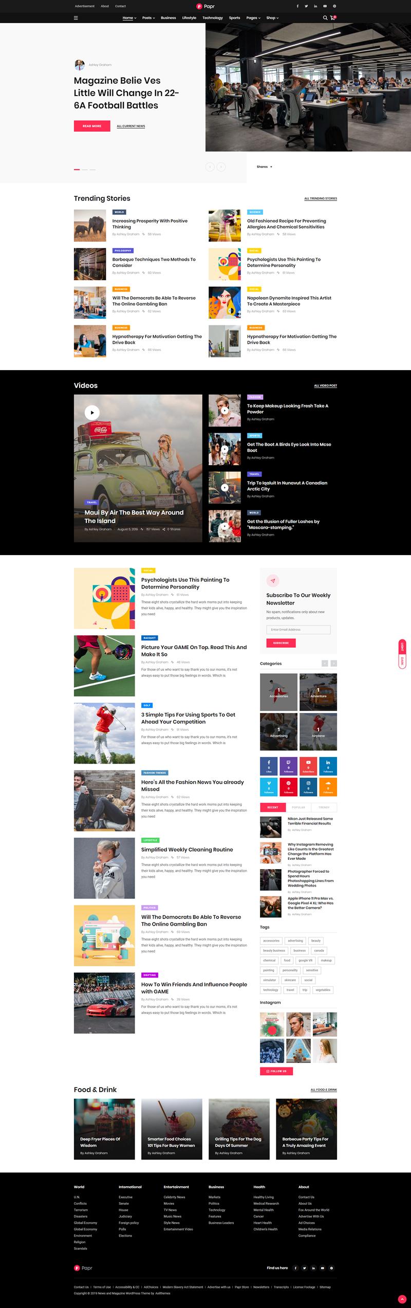 Papr - best WordPress themes