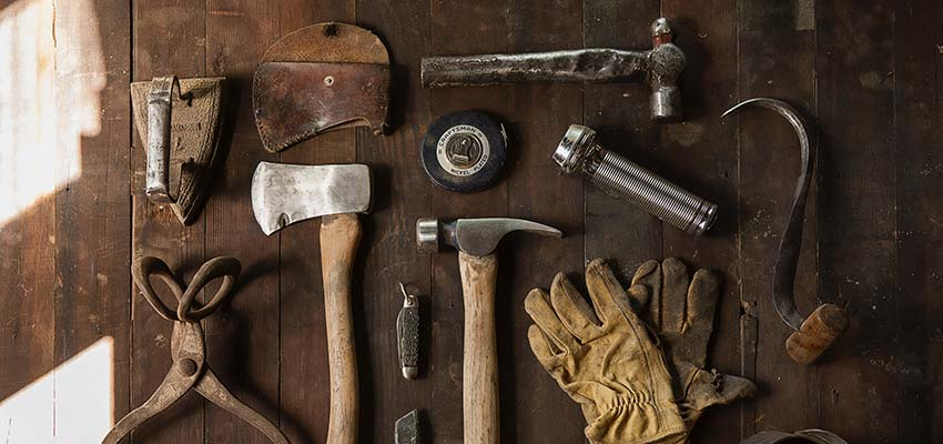 A display of tools - web design business
