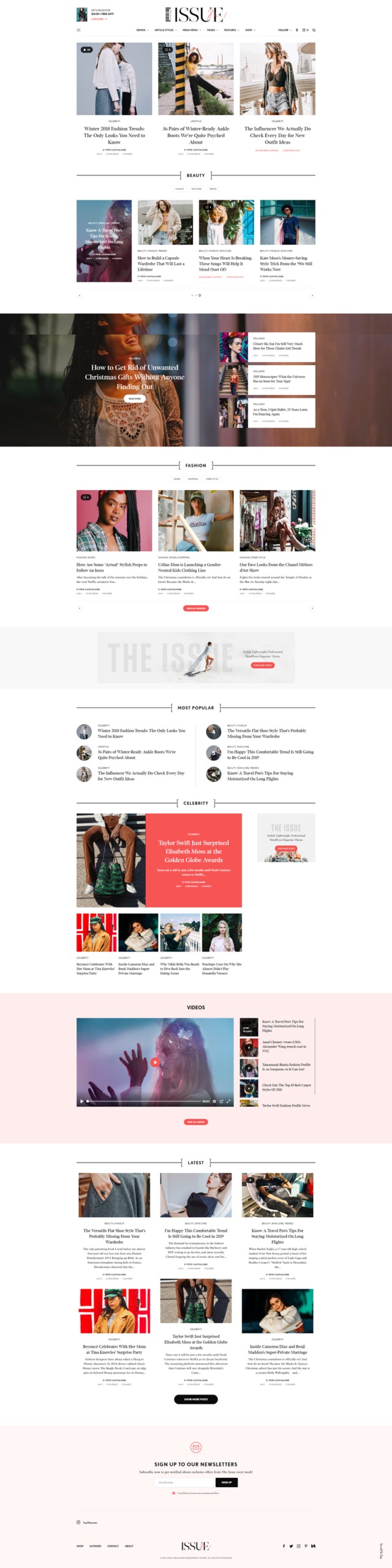 The Issue - best WordPress themes for Magazine websites