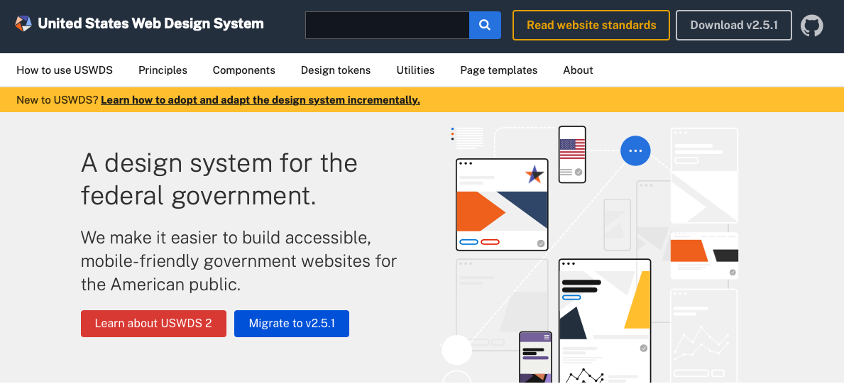 USWDS - web design style guide