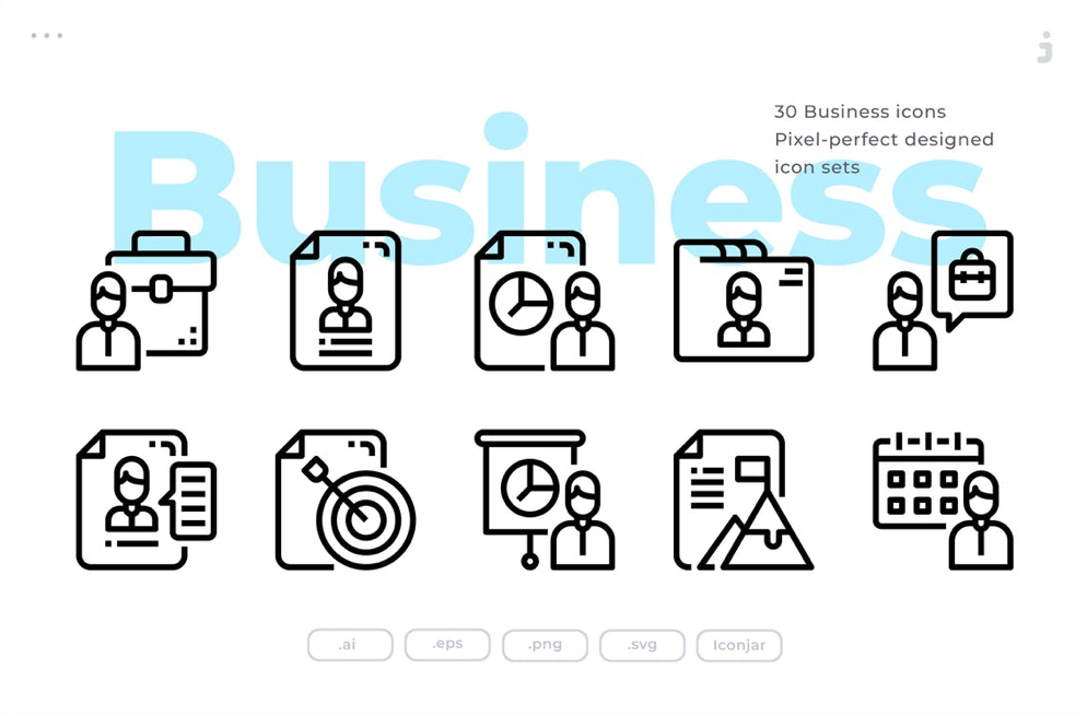 Business Icon Set - 30 Business Icons