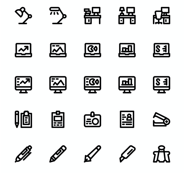 Smashicons: 80 Material Office Icons