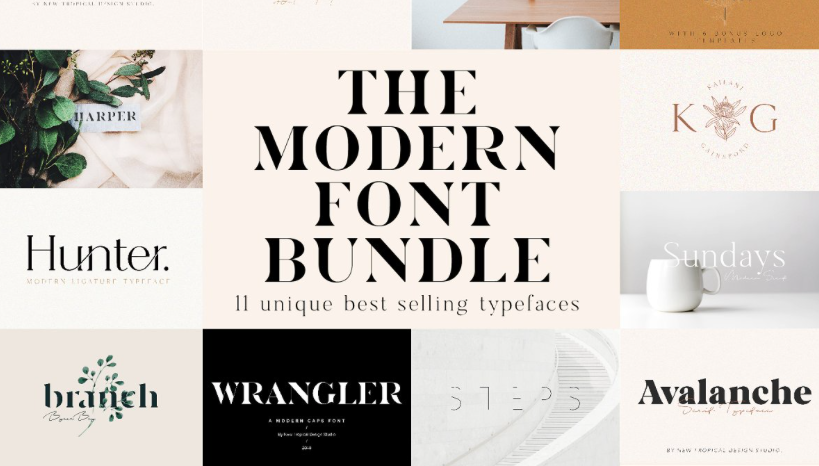 The Chic & Unique Modern Font Bundle