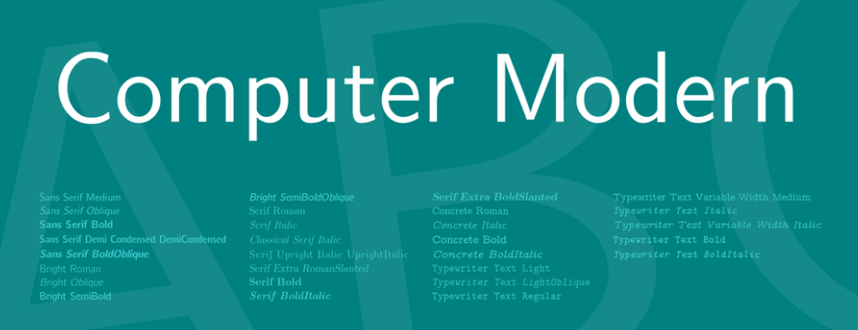 Computer Modern Font Family