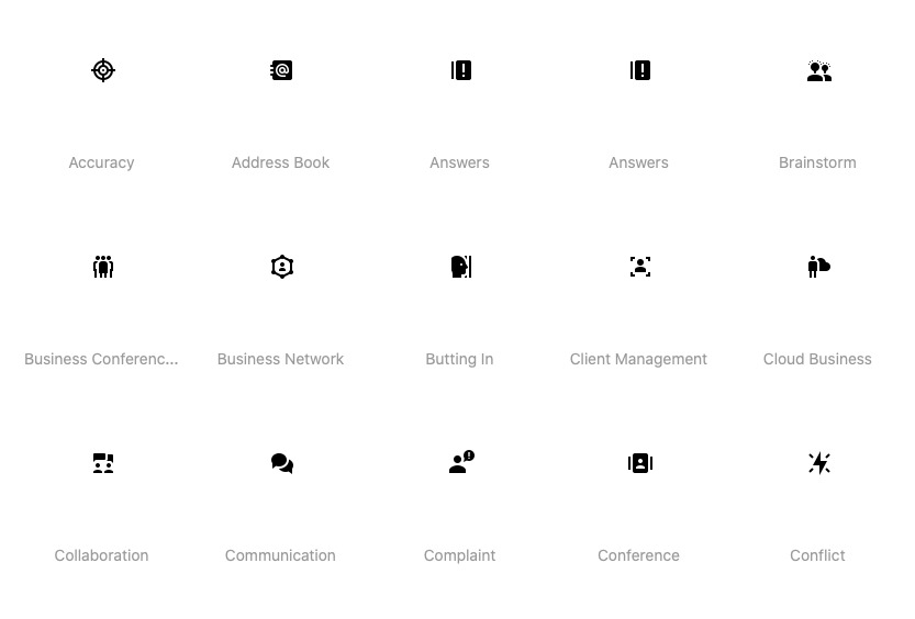 Material Filled Icons of Business