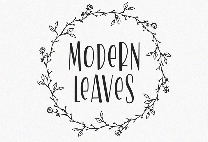 Modern Leaves - modern fonts 2020